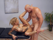 Bonnie Rotten gets fucked on the massage table