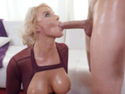 London River cleans off Scott Nails huge cock after taking a nice facial cumshot