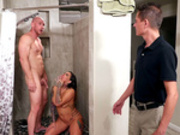 Wife Karmen Karma gets caught cheating in the shower
