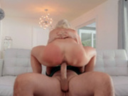 Milf Sydney Hail gets her pussy drilled reverse cowgirl style