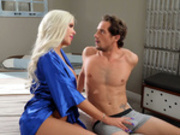 Milf Nina Elle is craving her stepsons young hard cock