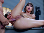 Reporter Riley Reid readies herself for a hard anal fucking