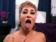 Slutty Milf Ryan Keely is finally satisfied after tasting some fresh cum