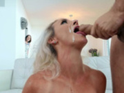 Sydney Hail gets her face creamed by her friend husband Keiran Lee