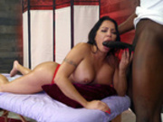 Julianna Vega sucks her masseurs big black cock