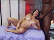 Julianna Vega gets her boobs covered with her massage therapists cum