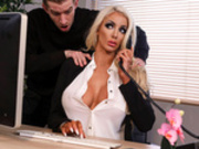Massaged On The Job Featuring Nicolette Shea - Dirty Masseur HD