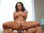 Big boobed mommy Ava Addams rides on Ricky Johnson's big black cock