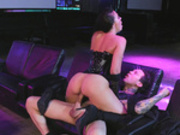 Stripper Rachel Starr fucks her client in the club