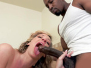 Jada Stevens slobbers all over Isiah's big black cock