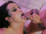 Katrina Jade enjoys a creamy facial from Keiran Lee