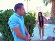 Jade Kush catches her stepbrother Johnny jerking off to her