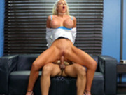 Nicolette Shea takes a break from work and fucks in the office