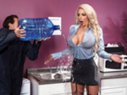 Water Cooler Cock Starring Nicolette Shea - Brazzers HD