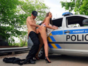 Teen Stacy Cruz gets fucked outdoors by police officer Erik Everhard