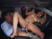 Babysitter Alina Lopez fucks cheating husband in the minivan