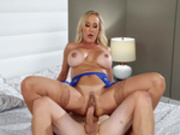 Hot milf Brandi Love bouncing on hard young cock
