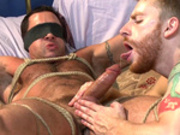Gay Hunk Is Tied Up And Jacked Off - Nick Capra - Men.com