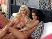 Nicolette Shea gets caught by her husband cheating with Kimber Veils