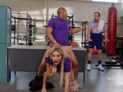 Abella Danger gets fucked by coworker Ricky Johnson at the gym