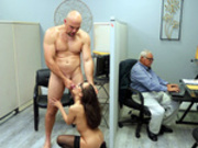 Office slut Lana Mars enjoys a fuck and facial at work