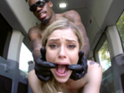 Kali Roses gets fucked hard and ruff in the back of a van