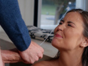 Teen Cindy Shine blasted with cum from her mothers new boyfriend