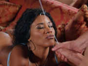 Kiki Minaj gets blasted with Danny D's cumshots