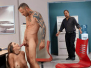 Abigail Mac and Scott Nails get caught fucking at work