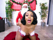 Mimi Curvaceous gets fucked doggy style by Santa Claus