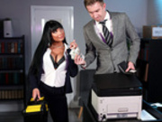Stuck In The Copier Starring Valentina Ricci and Danny D - Brazzers HD