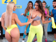 Working Out Their Anger Featuring Abella Danger and Katana Kombat - Brazzers HD