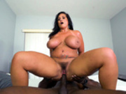 Kailani Kai bounces all over Jaxxx Slayher's big black man meat