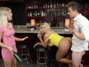 Bridgette B gets caught fucking the bar tender Van Wylde