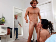 Stepson gets caught with cheating with his hot stepmom Becky Bandini