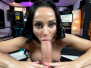 Russian babe Crystal Rush sucks huge cock
