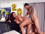 Monique Alexander enjoying some anal doggy style for the new year