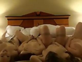 Four Teens Masturbating together
