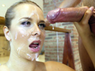 Nikky Dream has her face obliterated with hot cum