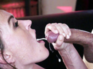 Krissy Lynn jerks that big dick till he blows his load in her mouth